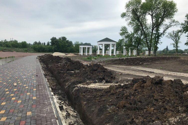 В Краматорске в Саду Бернацкого начаты работы по созданию дендропарка
