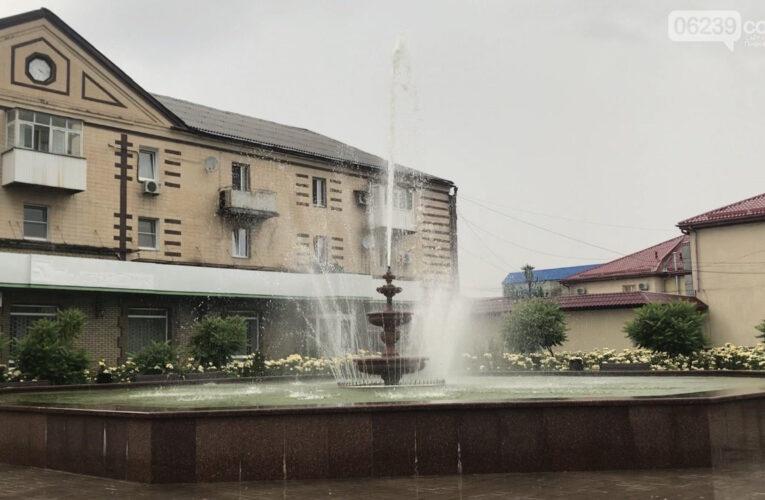 В Мирнограде заработал городской фонтан